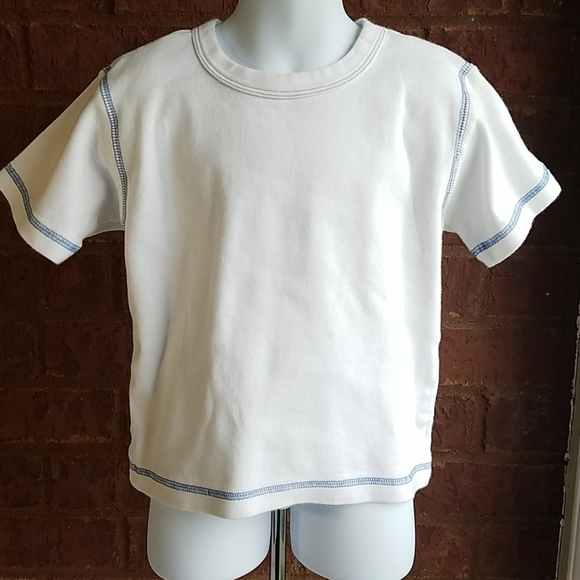 The Childrens Place  White Short Sleeve Tee Shirt